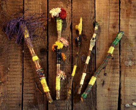 Photo pour Occulte, ésotérisme, divination et wicca concept. Fond vintage Halloween - image libre de droit