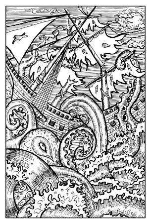 Kraken, giant octopus