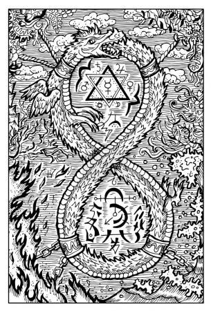 Ouroboros fantasy illustration