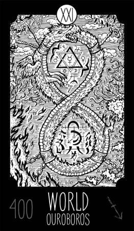 World.Ouroboros. Tarot card Major Arcana