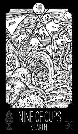 Nine of Cups. Kraken