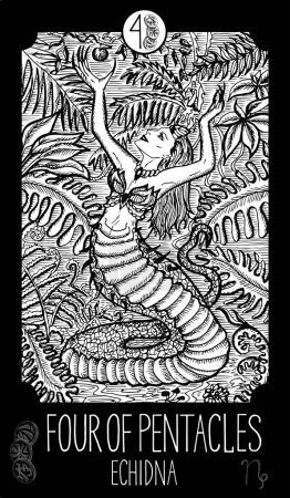 Four of Pentacles. Echidna