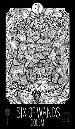 Six of Wands. Golem.