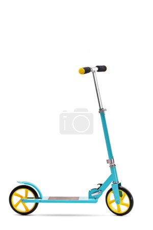 Blue scooter isolated