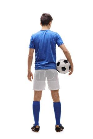 Teenage football player
