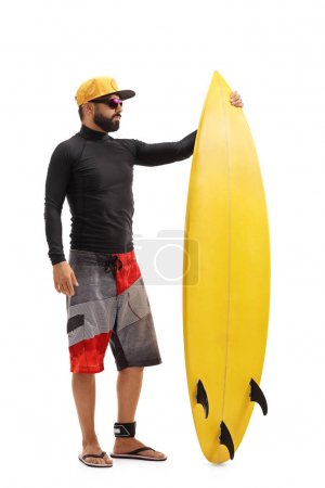 portrait of a surfer with a surfboard