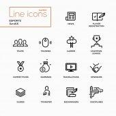 Esports - Single Line Pictograms Set