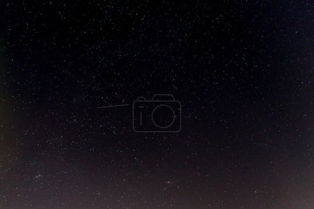 Photo for Dark night sky with stars. Astronomical background - Royalty Free Image