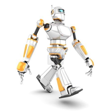 White Futuristic Robot