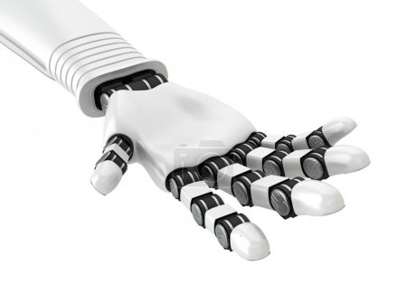 Photo for Robotic White Arm Hand Palm. 3d Render Illustration - Royalty Free Image