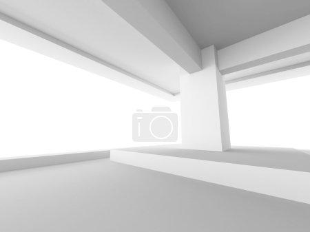 Photo pour Architecture intérieur design abstrait. illustration de rendu 3D - image libre de droit