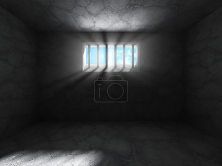 prison cell concrete dark room