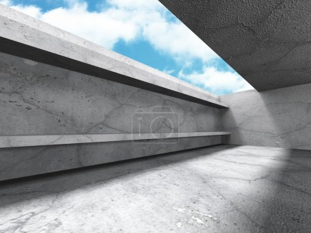 concrete architecture design with ceiling window