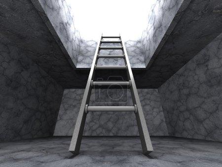 Ladder Out From Dark Basement