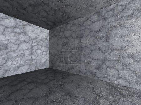 Dark Empty Concrete Room.