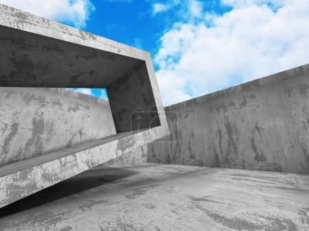Abstract Concrete Architecture Construction