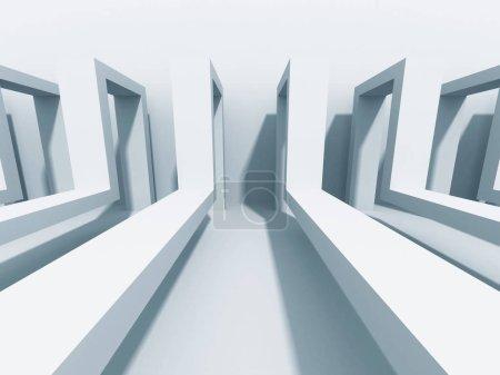 Photo pour Abstrait Architecture historique. Wallpaper de Construction moderne. Illustration de rendu 3D - image libre de droit