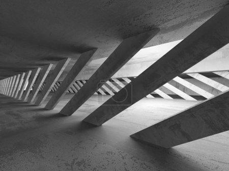 Photo pour Intérieur abstrait de pièce vide en béton. Arrière plan architectural. Illustration de rendu 3D - image libre de droit
