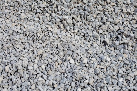 Pile of gray gravel