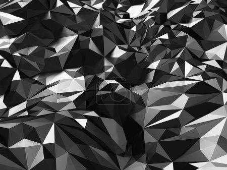 Black geometric relief