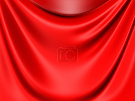 Red satin cloth