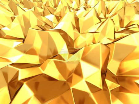 Gold geometric relief