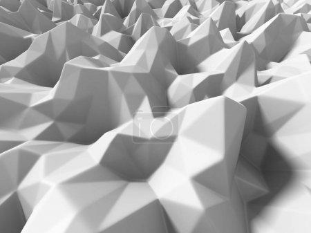 White geometric relief