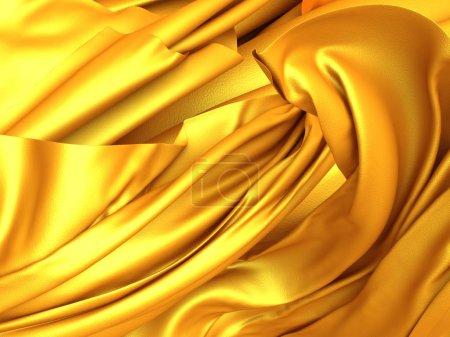 Beautiful gold silk waves