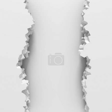 Photo for Broken wall with cracked hole. Abstract background. 3d render illustration - Royalty Free Image