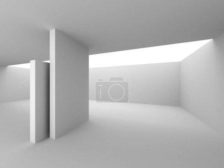 Photo pour L'Architecture moderne blanc fond. Illustration de rendu 3D - image libre de droit