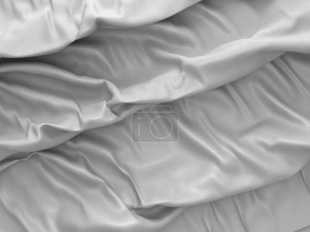 White satin cloth background with folds
