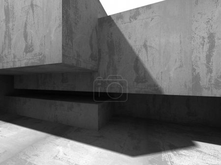 Abstract geometric concrete architecture