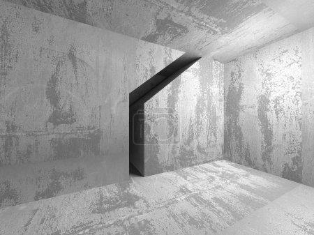 Photo for Empty dark abstract concrete room interior architecture background. 3d render illustration - Royalty Free Image