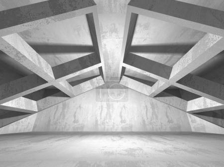 Photo pour Résumé géométrique béton architecture fond. Illustration de rendu 3D - image libre de droit
