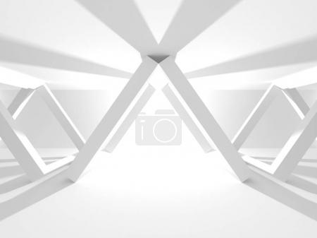 Abstract White Architecture Background