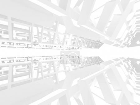 Photo pour Architecture abstraite fond design moderne. Illustration de rendu 3D - image libre de droit