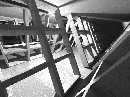 Geometric concrete architecture background