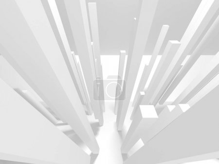abstract geometric white architecture background