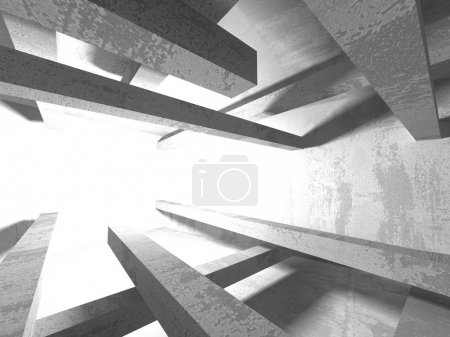 Photo for Abstract geometric concrete architecture background - Royalty Free Image