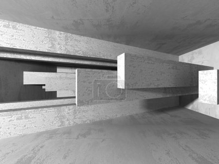 Abstract geometric concrete architecture background