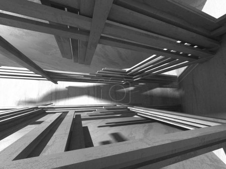 Abstract geometric with concrete texture architectural background