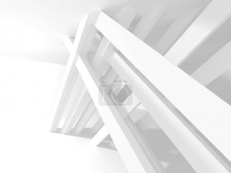 Photo for Abstract geometric white architectural background - Royalty Free Image