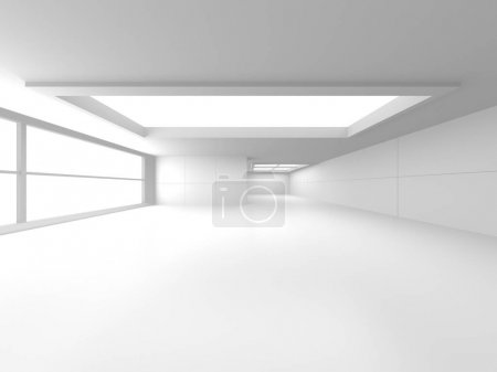 Photo pour Architecture blanche futuriste Contexte de conception. Concept de construction. Illustration de rendu 3d - image libre de droit