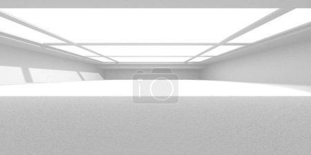 Photo for Futuristic White Architecture Design Background. Construction Concept. 3d Render Illustration - Royalty Free Image