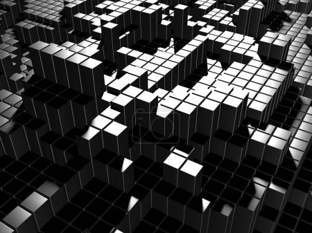 Photo for Dark silver cubes. Abstract metallic background. Modern design. 3d render - Royalty Free Image