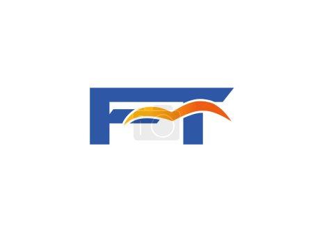 Illustration pour FT logo initial de l'entreprise - image libre de droit