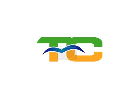 Letter C and T logo vector