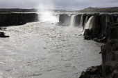 Iceland - August 30, 2017: The Sellfoss waterfall, Iceland, Europe