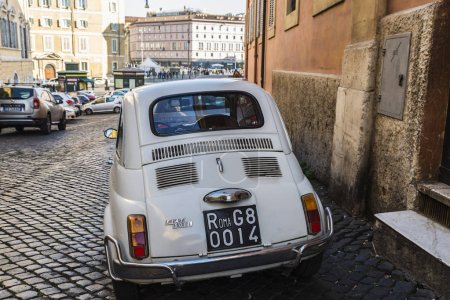 Fiat 500 car parked in