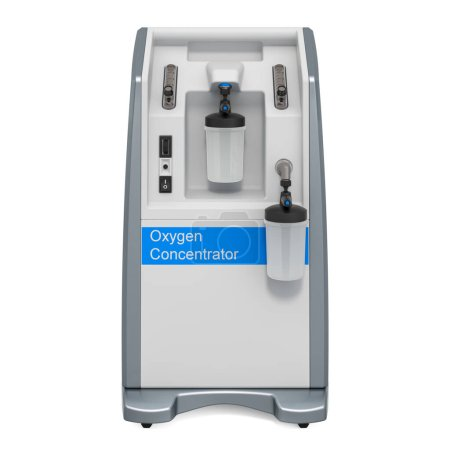 Portable Oxygen Concentrator, 3D rendering isolate...